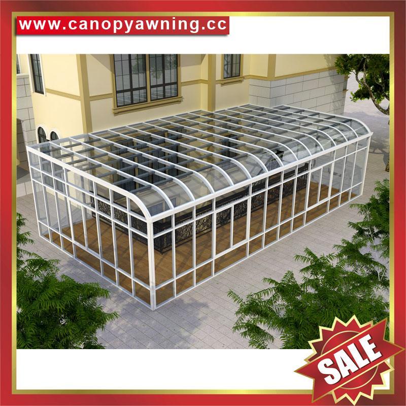中式仿实木纹采光透光铝合金铝制玻璃透明阳光房温室屋 1