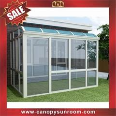 hot sale garden terrace patio aluminum alu glass sunroom house cabin shed