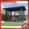 Prefabricated public archaistic aluminum alloy pavilion gazebo canopy awning