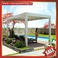 休闲铝合金电动百叶翻板带灯凉亭遮阳雨棚蓬篷 5