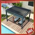 villa Aluminium alu motorized Louver pergola gazebo pavilion shelter canopy