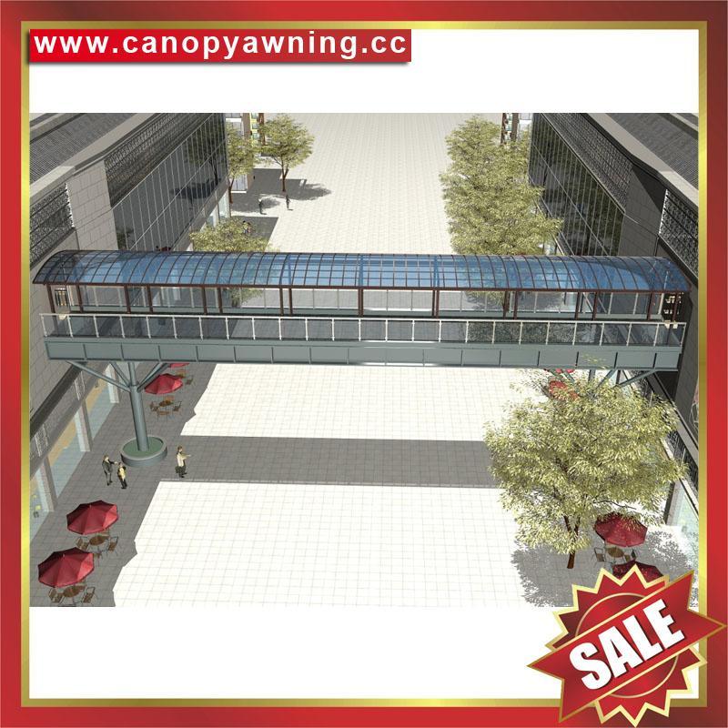 专业定制过道走廊楼梯铝合金PC板雨棚遮阳棚雨阳蓬挡雨篷 3