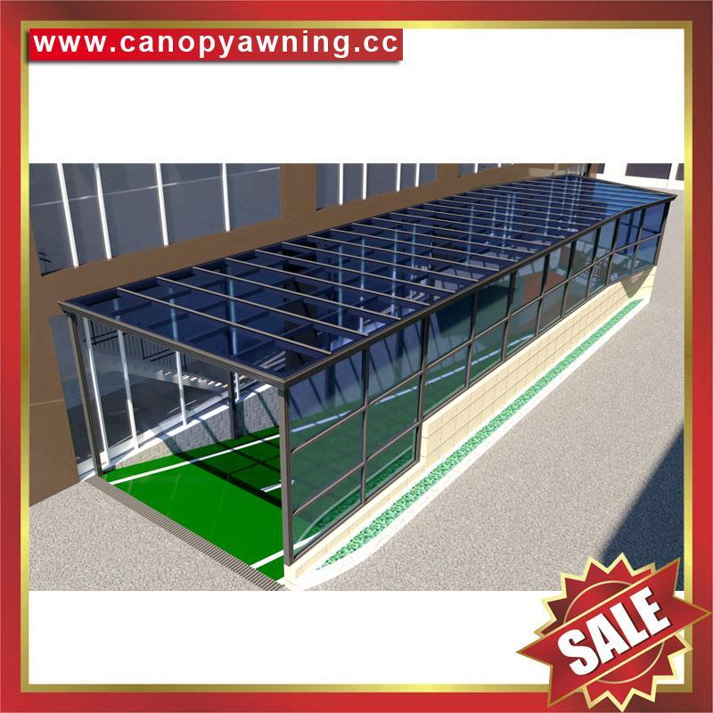 专业定制过道走廊楼梯铝合金PC板雨棚遮阳棚雨阳蓬挡雨篷 1