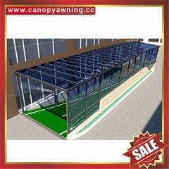 專業定製過道走廊樓梯鋁合金PC板雨棚遮陽棚雨陽蓬擋雨篷