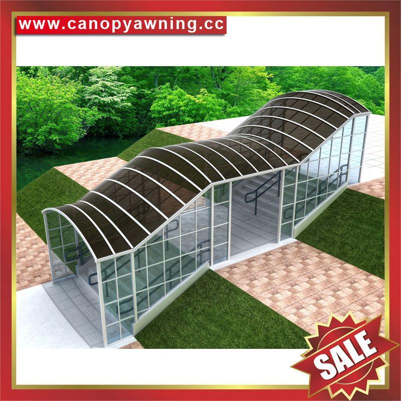 专业定制过道走廊楼梯铝合金PC板雨棚遮阳棚雨阳蓬挡雨篷 4