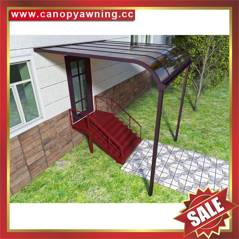 铝合金铝制PC耐力板防晒挡雨露台阳台雨棚雨阳篷遮阳蓬 4