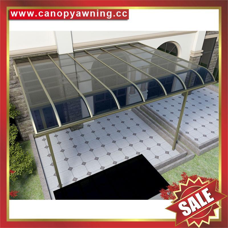 铝合金铝制PC耐力板防晒挡雨露台阳台雨棚雨阳篷遮阳蓬 1