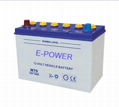 Top quality 12v Dry charged Automobile battery for Japan car