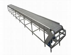 定制中小型耐高温爬坡输送机