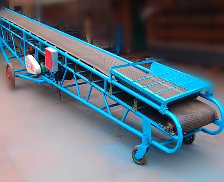 可移动角度可调节装卸皮带输送机 4