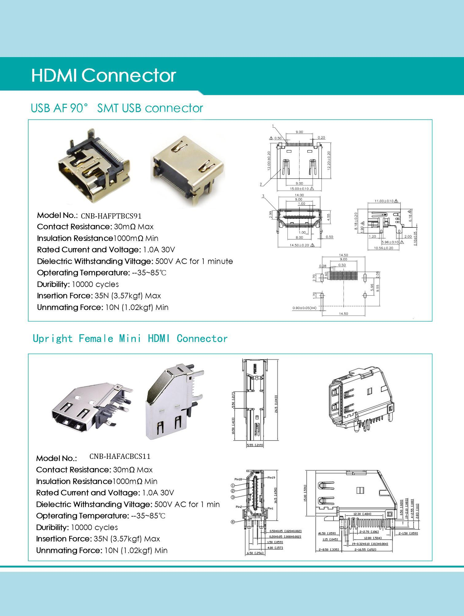 Rightup FemaleMini HDMI Connector from Chinese connector terminal manufacturer 3