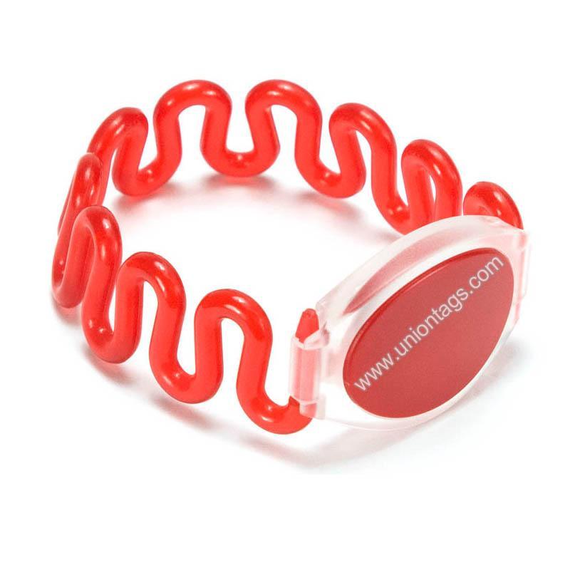 13.56MHz Custom MIFARE Ultralight Cheap Plastic Wristband 1