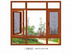 铝合金门窗 108 断桥窗纱一体平开窗系列
