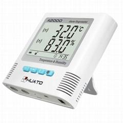 Huato thermo-hygrometer bulti alarm thermometer hygrometer