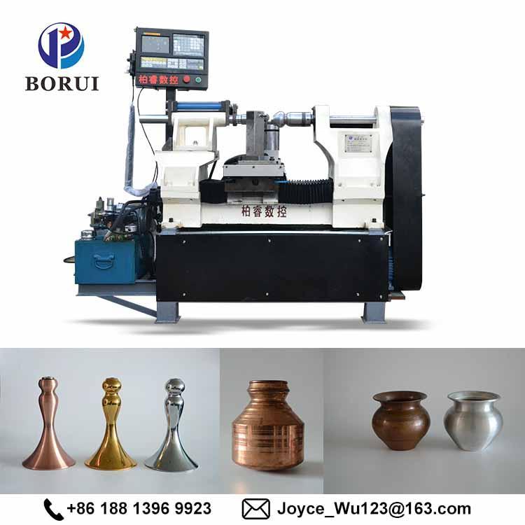 BORUI automatic cnc arts and craft metal aluminium spinning cnc machine 5