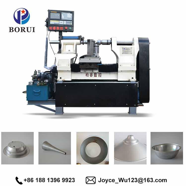 BORUI automatic cnc arts and craft metal aluminium spinning cnc machine 1