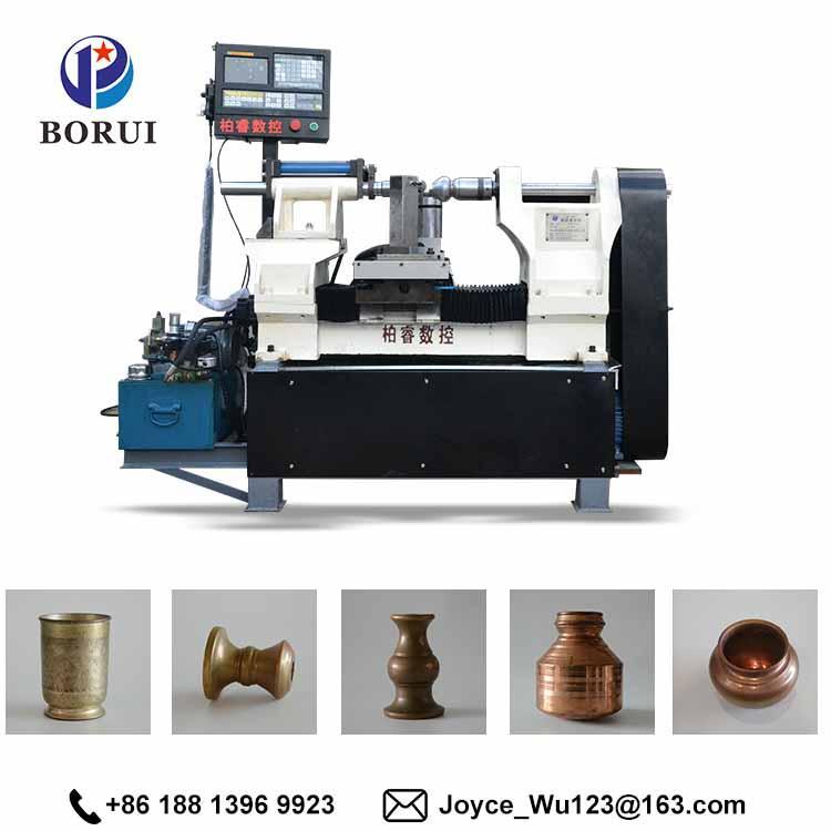 BORUI automatic cnc arts and craft metal aluminium spinning cnc machine 2