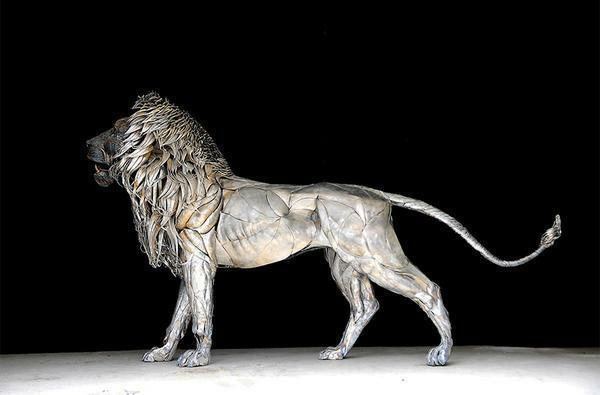 狮子仿真金属模型制作 1