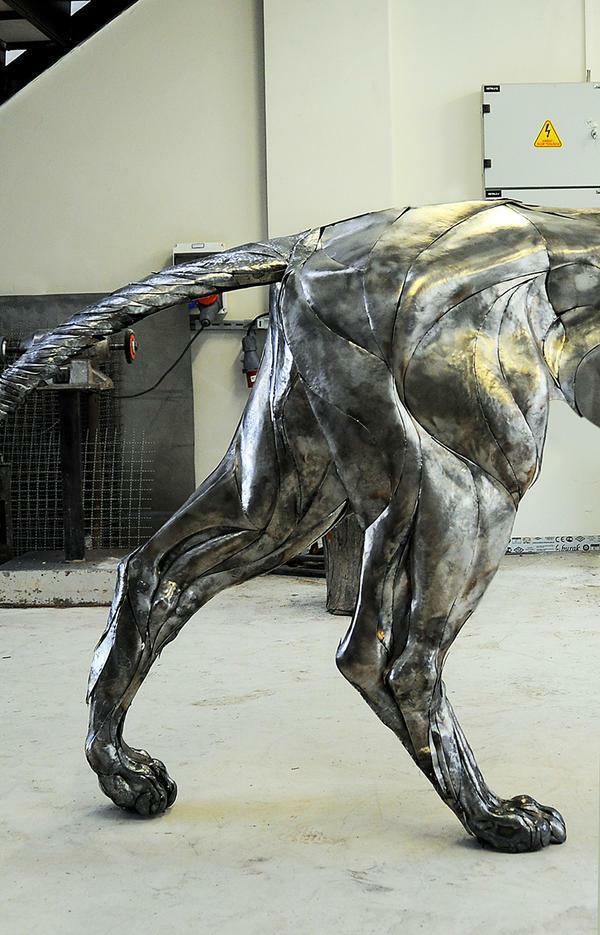 狮子仿真金属模型制作 4