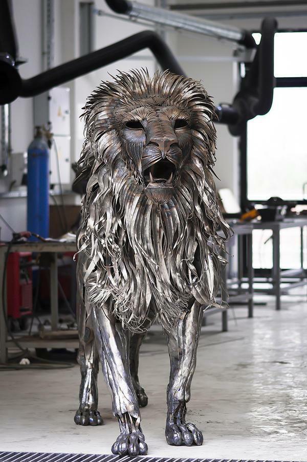 狮子仿真金属模型制作 5
