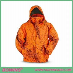 Men's Waterproof Blaze Orange Hunting Jacket