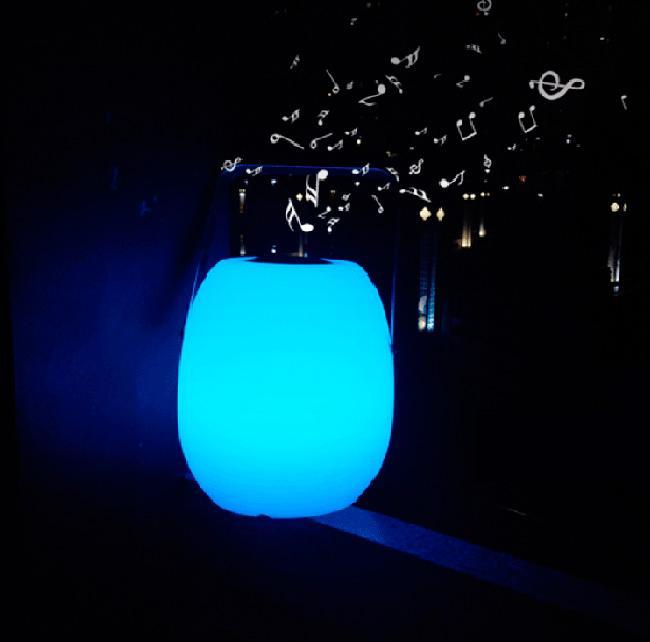 智能防水便携式无线蓝牙音箱,音乐LED夜灯 5
