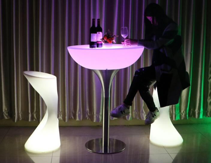 glowing illuminate night club bar stools with footrest 4