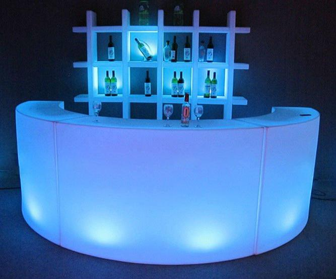 outdoor nightclub commercial portable modern LED bar counter 1