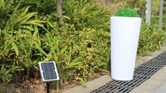 LED decorative plastic cylinder garden Eco plant pots