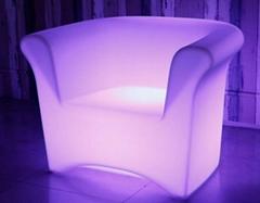 fancy illuminated new designed plastic PE bar single LED sofa
