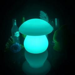 rechargeable color remote control RGB LED mushroom desk