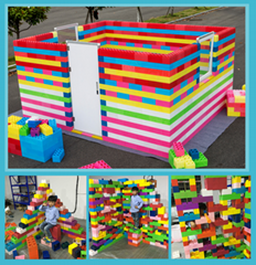 Hotsale kids building blocks plastic giant plastic blocks childrens playing bloc