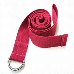 D-Ring Polyester Woven Label Custom Yoga Strap