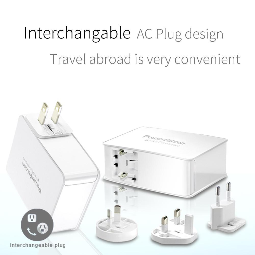 PowerFalcon USB-A 多口 旅充 充电头 3