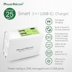 PowerFalcon Type-C +2口 USB-A多口折叠USB充电器