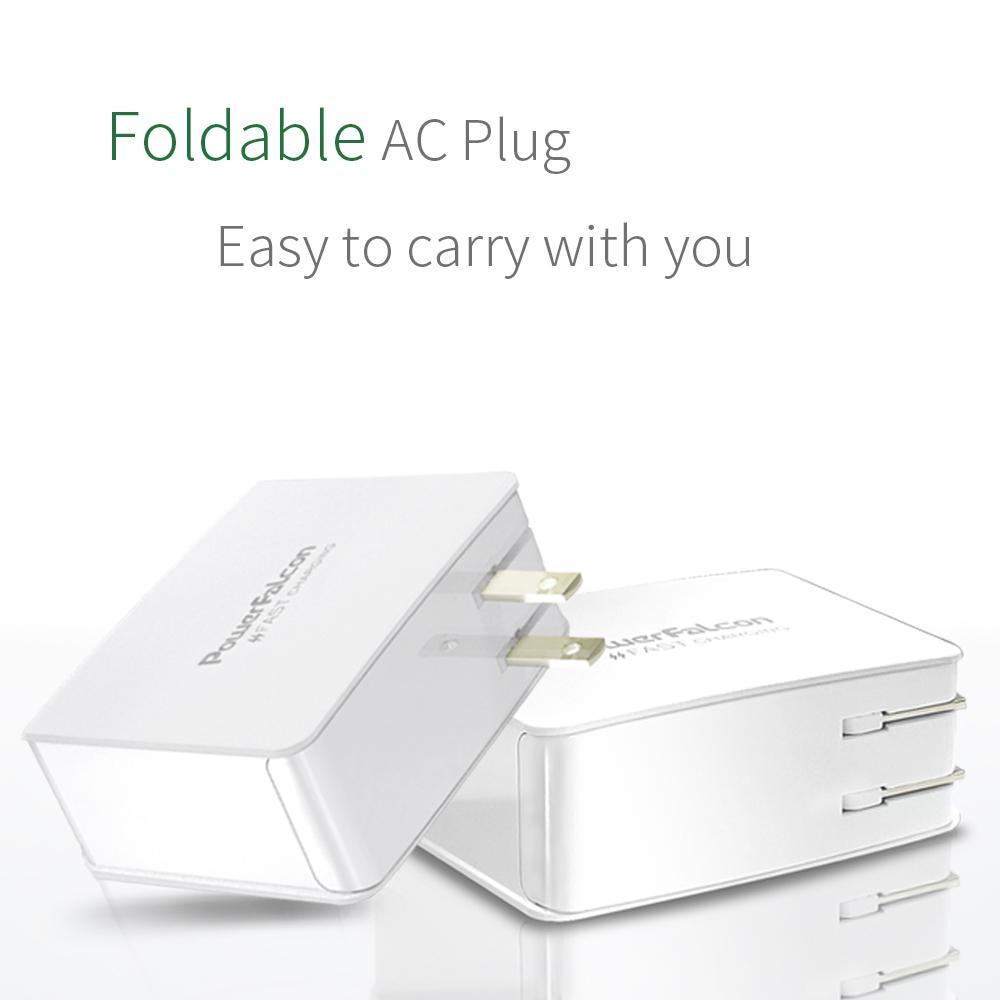 PowerFalcon Type-C +2口 USB-A多口折叠USB充电器 3