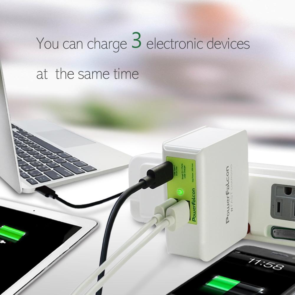PowerFalcon Type-C +2口 USB-A多口折叠USB充电器 2