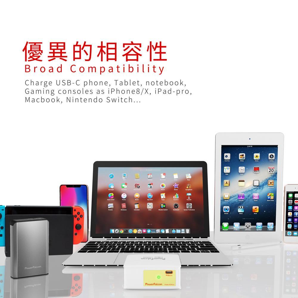 PowerFalcon 45W PD折叠充电器(MacBook及智能手机适用) 5