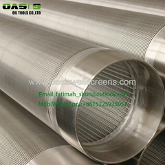 Water well metal mesh with cylinder shape for well water filter
