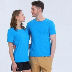 Round neck Blank T-shirt 200g 100% combed cotton T shirt