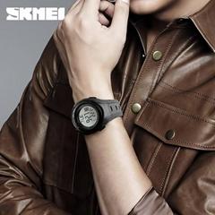 Skmei 1315 digital watch black color simple design with customer logo ABS case w