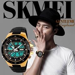 Skmei Fashion Unisex Style Dual Movement 50m Waterproof Sports digital Watch
