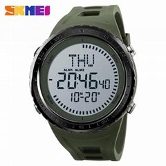 Skmei 1342 Digital Display compass 50M Water Resistant PU Band Men digital watch