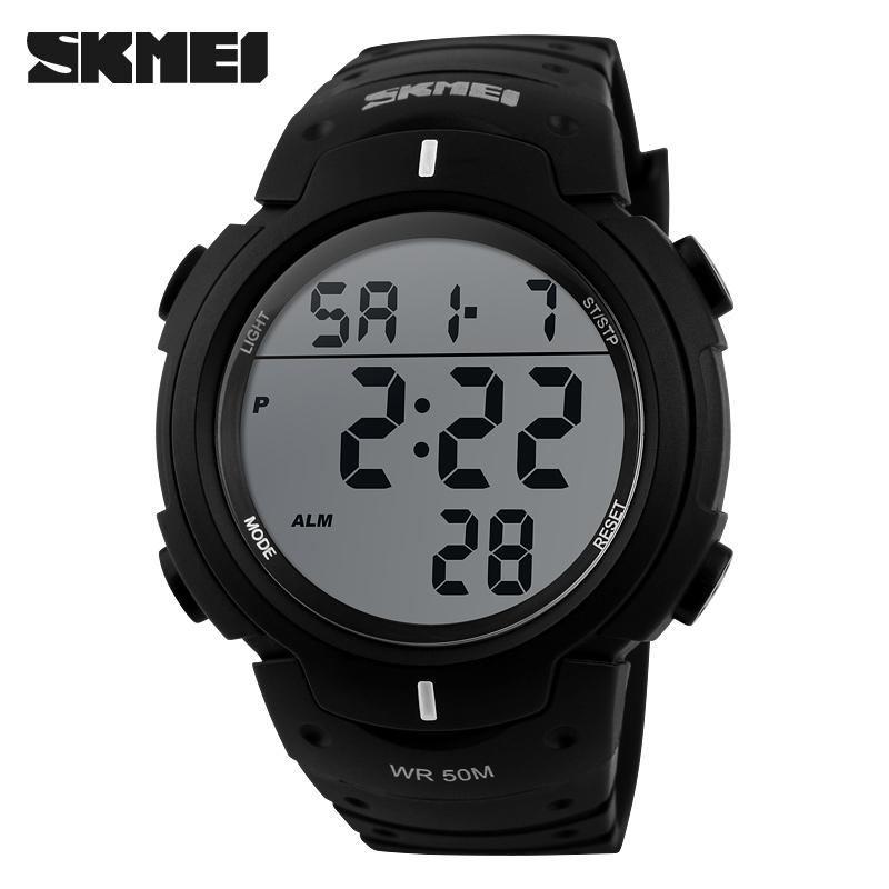 Outdoor dress digital watches 5ATM with Taiwan chip and imported EL lighting PU  2