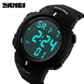 Outdoor dress digital watches 5ATM with Taiwan chip and imported EL lighting PU  4