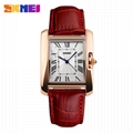 Red color wrist watch women with zinc