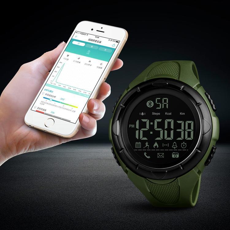 SKMEI Luxury Sport Digital Bluetooth Smart Watch 50m Waterproof unsex Wrist Watc 2