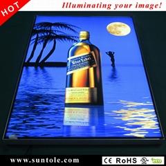 WilLite frameless fabric face slim light box