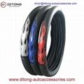 Refective PU mesh material car steering wheel cover