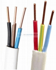 BVVB Solid Copper Conductor PVC Sheathed Multi-Cores Flat Cable